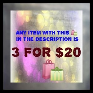 MANY ARE NWT 3 🛍 items to bundle & send $20 offer